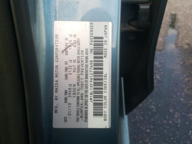2010 Mazda 3 | Vin: JM1BL1SF9A1277698