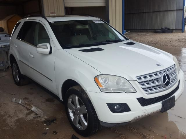 Salvage cars for sale from Copart San Antonio, TX: 2010 Mercedes-Benz ML 350 4matic