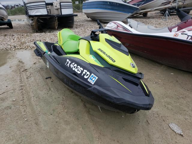 Salvage cars for sale from Copart Grand Prairie, TX: 2019 Seadoo Seadoo GTI