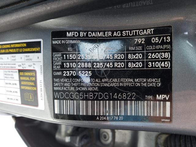 2013 MERCEDES-BENZ GLK 350 WDCGG5HB7DG146822