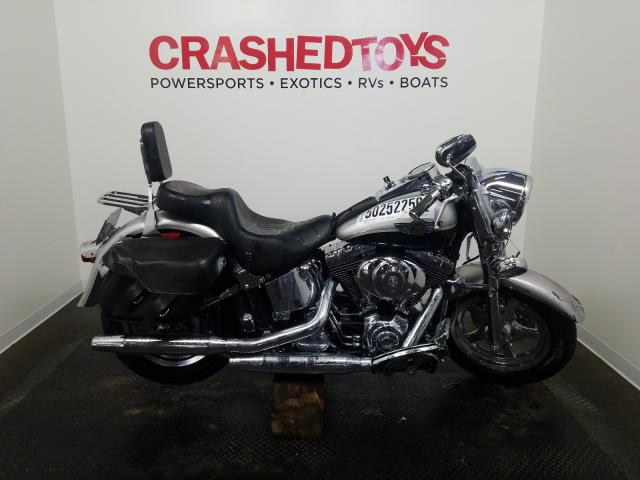 Salvage cars for sale from Copart Ham Lake, MN: 2003 Harley-Davidson Flstfi ANN