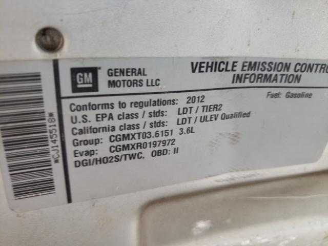 2012 Chevrolet TRAVERSE | Vin: 1GNKRJED8CJ145518