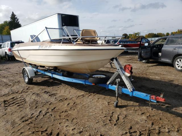 Salvage 1977 Glastron BOAT WITH TRAILER for sale