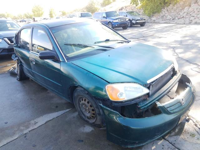 Salvage cars for sale from Copart Littleton, CO: 2001 Honda Civic LX