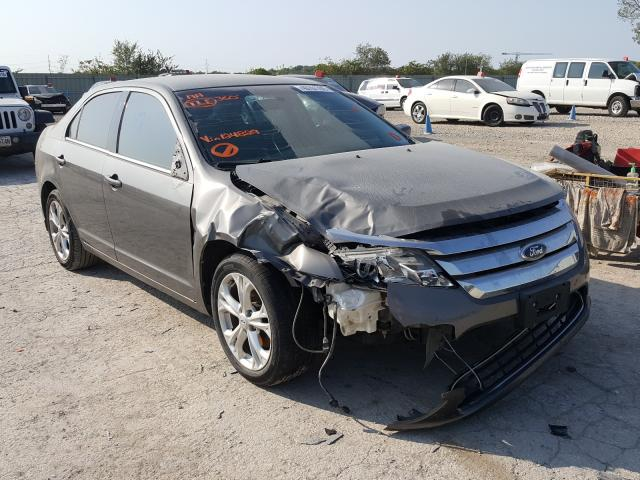 Salvage cars for sale from Copart Kansas City, KS: 2012 Ford Fusion SE