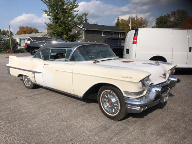 Salvage 1957 Cadillac COUPE DEVI for sale