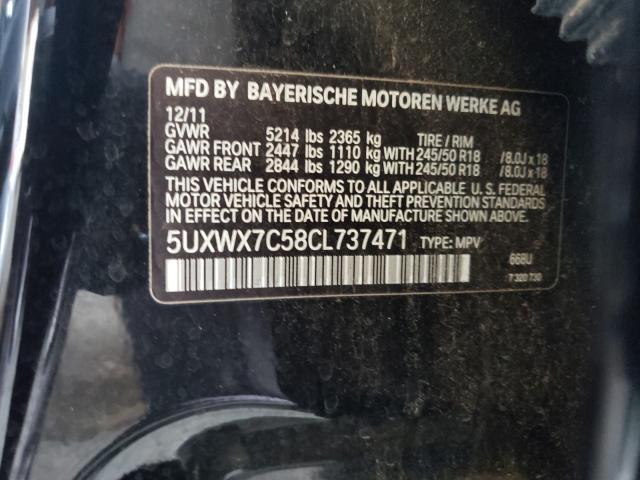 5UXWX7C58CL737471 2012 Bmw X3 Xdrive3 3.0L