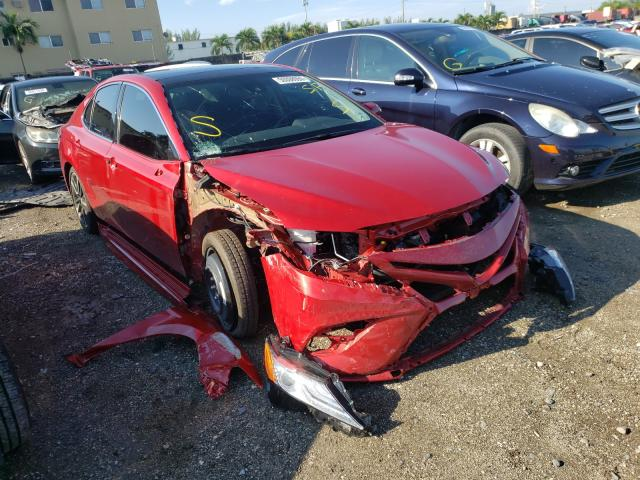 Salvage cars for sale from Copart Opa Locka, FL: 2020 Toyota Camry XSE
