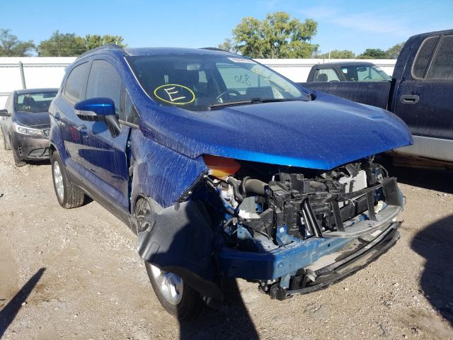 Salvage cars for sale from Copart Wichita, KS: 2020 Ford Ecosport S