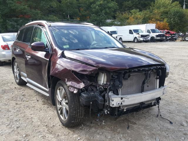 Salvage cars for sale from Copart Mendon, MA: 2013 Infiniti JX35