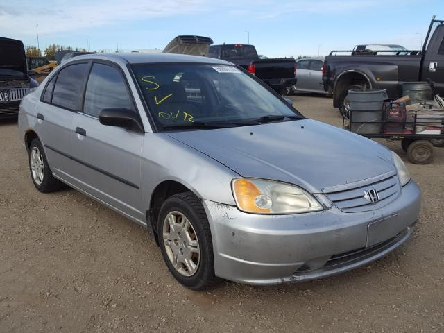 Honda Civic DX salvage cars for sale: 2001 Honda Civic DX