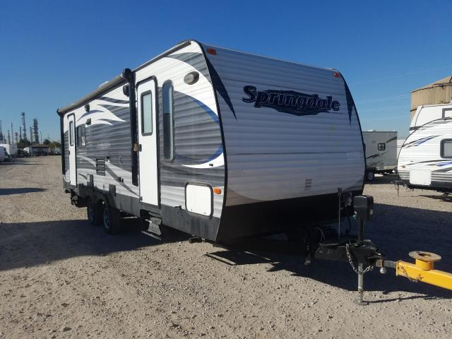 Keystone Travel Trailer salvage cars for sale: 2016 Keystone Travel Trailer