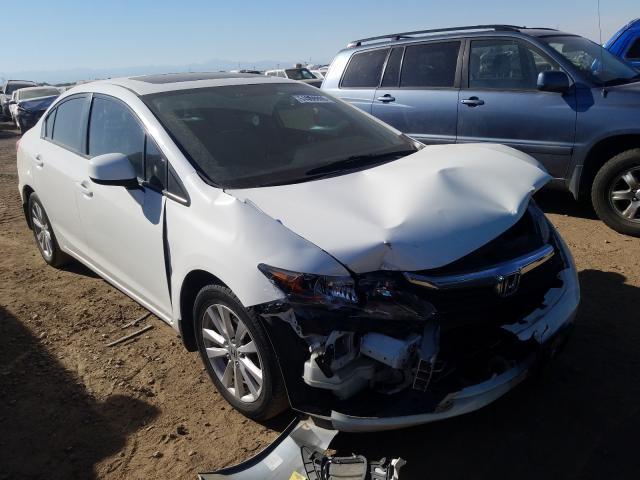 Salvage cars for sale from Copart Brighton, CO: 2012 Honda Civic EX