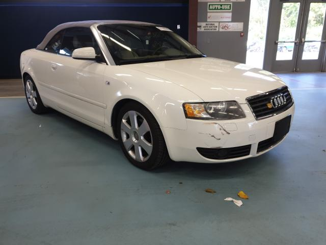 Salvage cars for sale from Copart East Granby, CT: 2006 Audi A4 1.8 Cabriolet