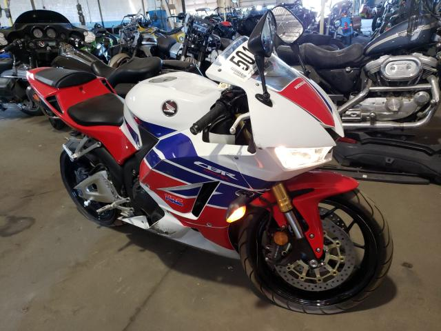 Salvage cars for sale from Copart Woodhaven, MI: 2014 Honda CBR600 RR