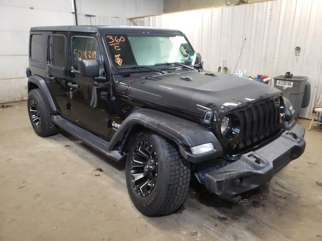 Salvage cars for sale from Copart Lyman, ME: 2018 Jeep Wrangler U