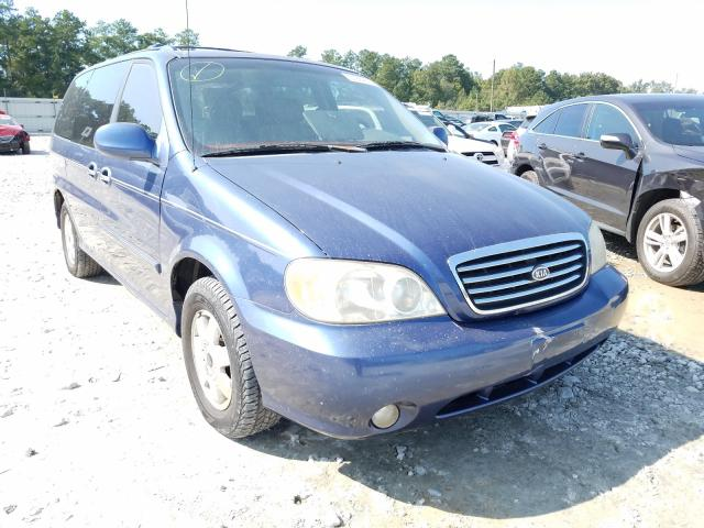 KIA Sedona EX salvage cars for sale: 2002 KIA Sedona EX