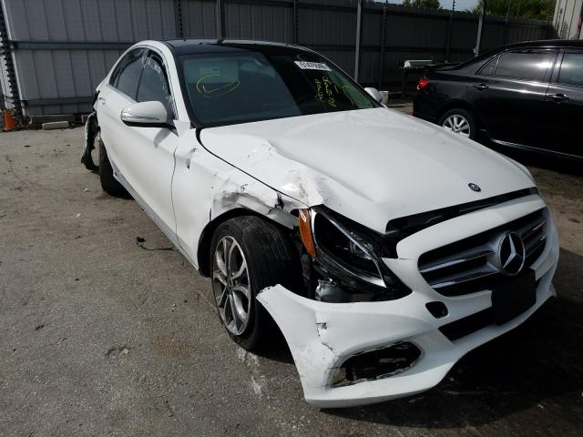 Salvage cars for sale from Copart Orlando, FL: 2017 Mercedes-Benz C 300 4matic