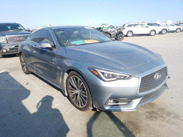 Salvage cars for sale from Copart New Orleans, LA: 2018 Infiniti Q60 Luxe 3