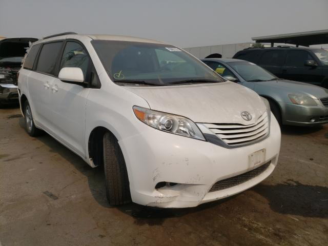 Salvage cars for sale from Copart Hayward, CA: 2016 Toyota Sienna LE