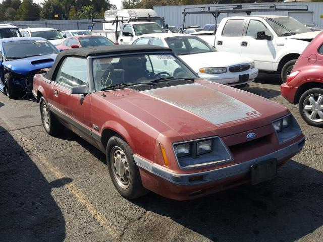 Salvage Certificate 1986 Ford Mustang 5 0l For Sale In Vallejo Ca 51515000