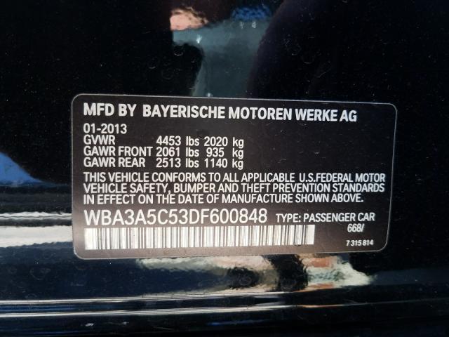 WBA3A5C53DF600848 2013 Bmw 328 I 2.0L