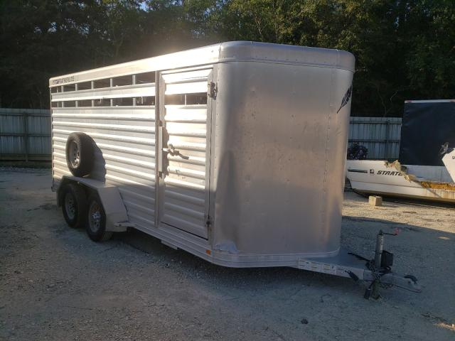 Salvage cars for sale from Copart Greenwell Springs, LA: 2014 Featherlite Mfg Inc Horse Trailer