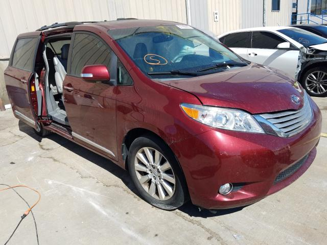 Toyota salvage cars for sale: 2014 Toyota Sienna XLE