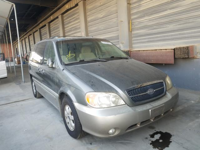 KIA Sedona EX salvage cars for sale: 2005 KIA Sedona EX