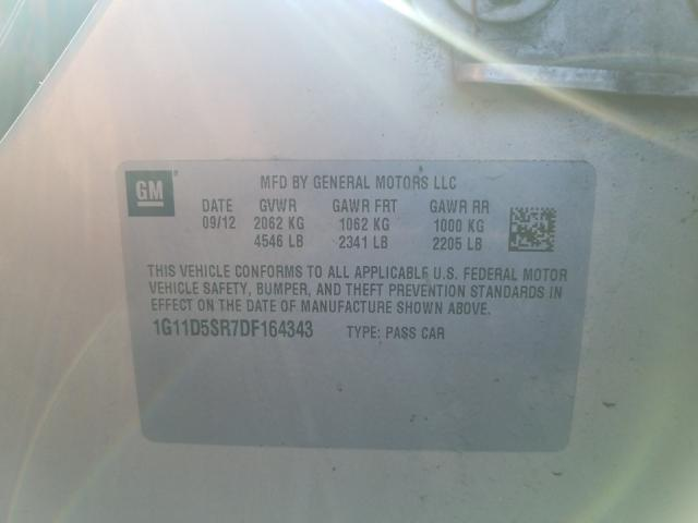 2013 CHEVROLET MALIBU 1LT 1G11D5SR7DF164343