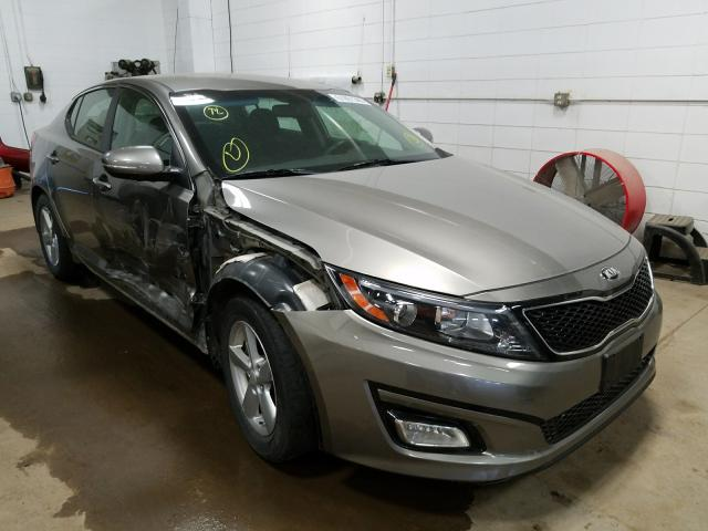 Salvage cars for sale from Copart Blaine, MN: 2015 KIA Optima LX