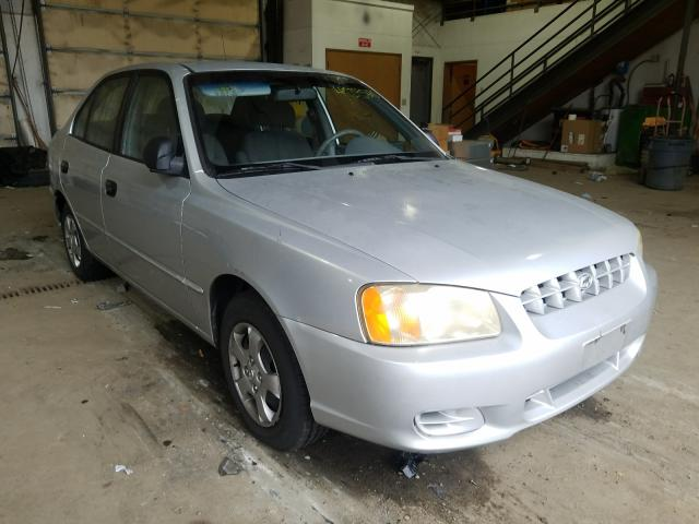 Hyundai Accent salvage cars for sale: 2002 Hyundai Accent