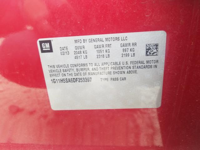 2013 CHEVROLET MALIBU LTZ 1G11H5SA6DF253397