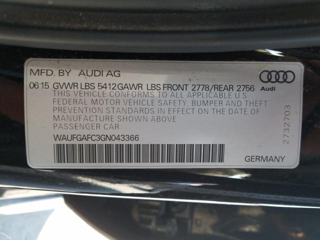 WAUFGAFC3GN043366 2016 Audi A6 Premium 3.0L