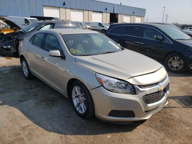 Salvage cars for sale from Copart Woodhaven, MI: 2015 Chevrolet Malibu 1LT
