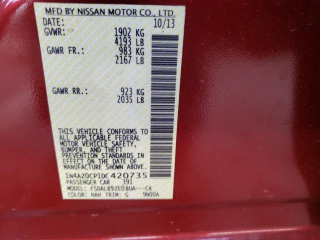 2013 Nissan LEAF | Vin: 1N4AZ0CP1DC420735