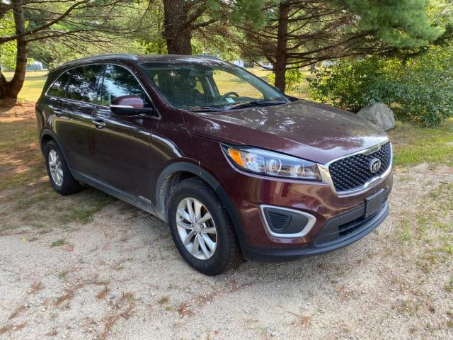 Salvage cars for sale from Copart Mendon, MA: 2016 KIA Sorento LX