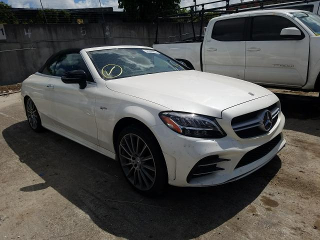 Salvage cars for sale from Copart Opa Locka, FL: 2019 Mercedes-Benz C 43 AMG