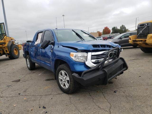 Salvage cars for sale from Copart Moraine, OH: 2016 Toyota Tundra CRE