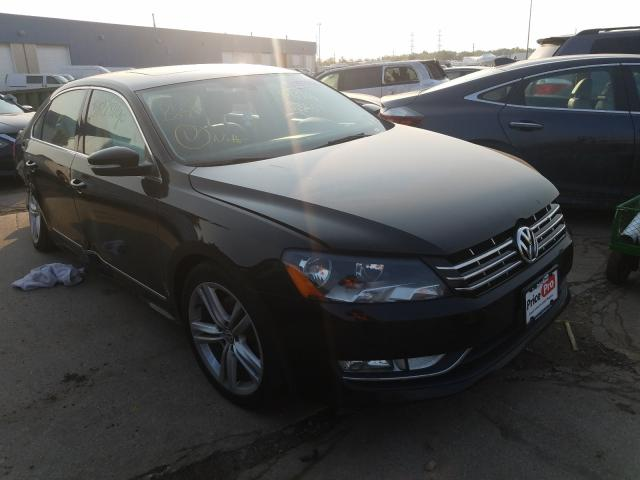 Salvage cars for sale at Woodhaven, MI auction: 2013 Volkswagen Passat SEL