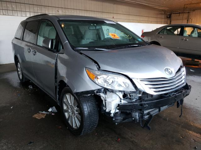 Salvage cars for sale at Candia, NH auction: 2017 Toyota Sienna LE
