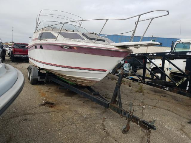 Salvage cars for sale from Copart Woodhaven, MI: 1986 Bayliner 2450 Comma