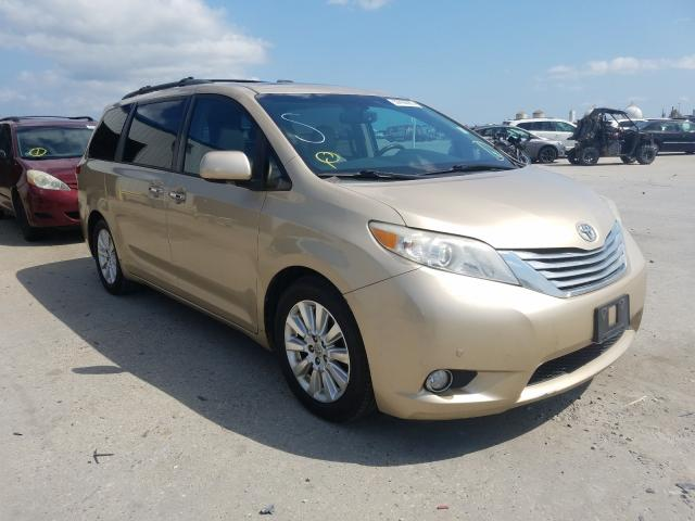 Salvage cars for sale from Copart New Orleans, LA: 2011 Toyota Sienna XLE