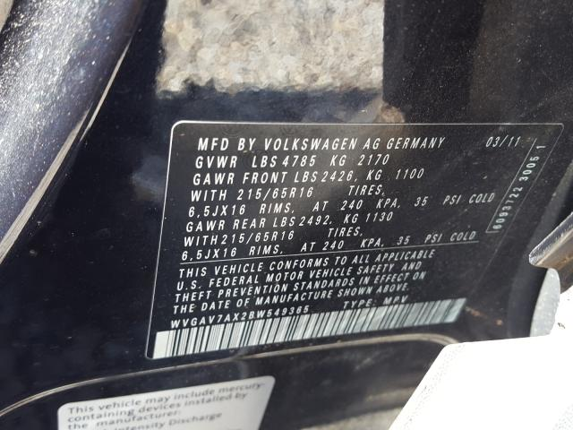 2011 Volkswagen TIGUAN | Vin: WVGAV7AX2BW549365