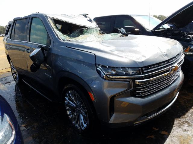 Chevrolet salvage cars for sale: 2021 Chevrolet Tahoe K150