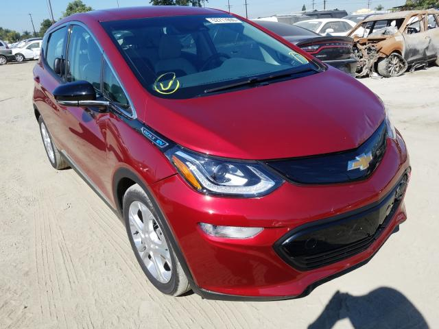 Chevrolet Bolt EV LT salvage cars for sale: 2019 Chevrolet Bolt EV LT
