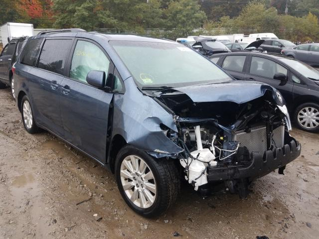 Salvage cars for sale from Copart Mendon, MA: 2015 Toyota Sienna LE