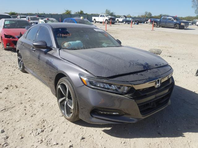 Salvage cars for sale from Copart Kansas City, KS: 2019 Honda Accord Sport