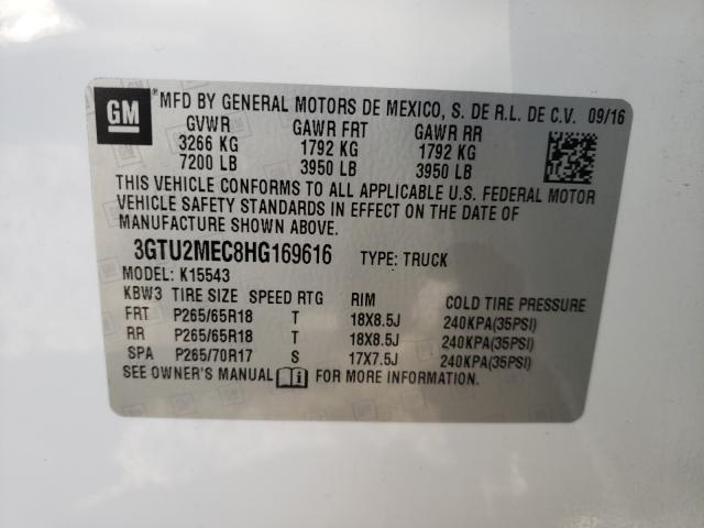 3GTU2MEC8HG169616 2017 Gmc Sierra K15 5.3L