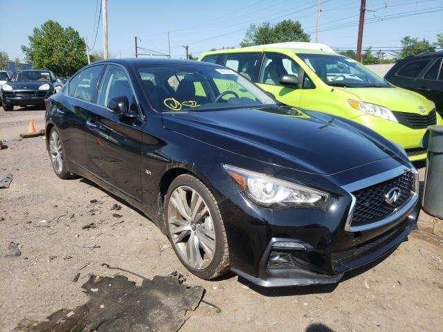 Salvage cars for sale from Copart Chalfont, PA: 2019 Infiniti Q50 Luxe